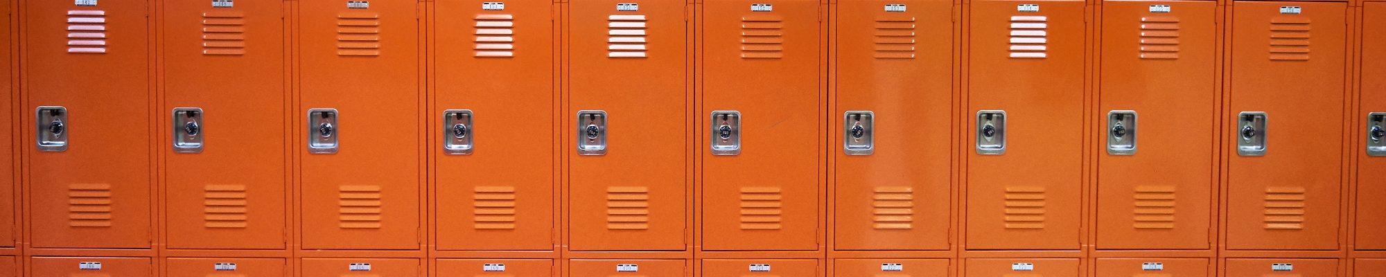Orange lockers